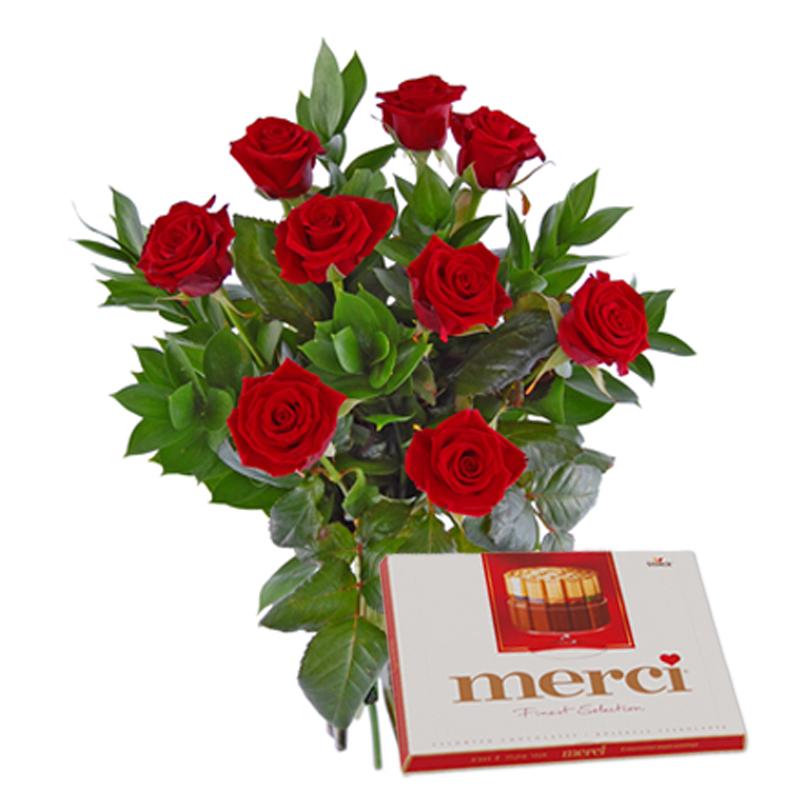 Roze Z Czekoladkami Kwiaty I Czekoladki Wyslij Kwiaty Kurierem
